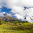 Stock Photo: Approaching Mayon