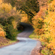 Autumn lane way — Stock Photo