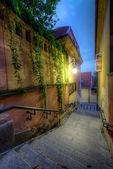 Lane in alten warschau — Stockfoto