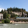 Stockfoto: View to Castel SPietro in Verona