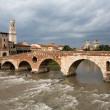 Стоковое фото: View to Adige river in Verona