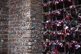 Kilitleri ile duvar — Stok fotoğraf