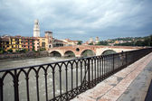 View to the Adige river in Verona — Stock Photo