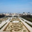 View from the upper Belvedere Palace — Stock Photo