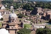 Panoramic view of the Forum in Rome — Stock Photo