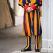 Swiss guard in Vatican — Stock Photo