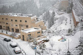 Snow in Jerusalem — Stockfoto