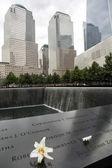 Memorial at World Trade Center Ground Zero New York — Стоковое фото