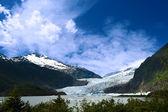 Mendenhall ledovec — Stock fotografie