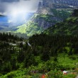 Stormy Day at Glacier National Park — Stock Photo