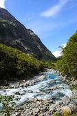 Blue River Flowing in New Zealand — Foto de Stock