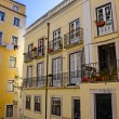 Apartments in the Alfama District of Lisbon Portugal — Stock Photo