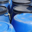 Royalty-Free Stock Photo: Blue plastic 200 litre barrel