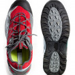 Foto Stock: Tough hiking shoes and sole