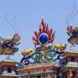 Colorful dragon statue on china temple roof. — Stock Photo #14586821