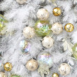 Royalty-Free Stock Photo: Background made of christmas balls and tinsel