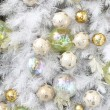Background made of christmas balls and tinsel — Stock Photo #14587131