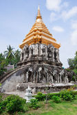 Ancient temple, Wat Chiang Man temple in Chiang Mai, Thailand. — Stock Photo