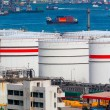 Oil tanks at day — Stock Photo
