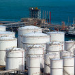 Stock Photo: Oil tanks at day