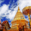 Wat Phra That Doi Suthep is a major tourist destination of Chian — Stock Photo