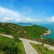 Stock Photo: Hiking path surrounded by the sea