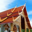 Thai northern style church of Wat chadi liam in Chiang Mai Thail — Stock Photo #19371195