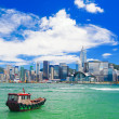 Hong Kong harbour at day — Stock Photo #19371455
