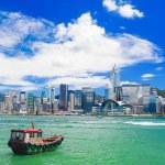 Hong Kong harbour at day — Stock Photo