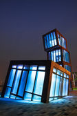 AbstracT Architecture at night — 图库照片