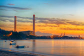 Sunset of Petrochemical industry — Stock fotografie