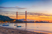 Sunset of Petrochemical industry — Stock Photo