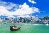 Hong Kong harbour at day — Stock Photo