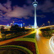 Traffic highway under macau tower — Stock Photo