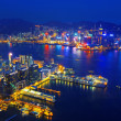 Aerial view of Hong Kong harbor — Stock Photo