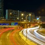 Downtown skyline at night — Stock Photo #33584313