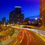 Downtown skyline at night — Stock Photo #33584335