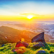 Stock Photo: Hong kong sunrise on mountain