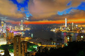 Sunset in hong kong — Stock Photo