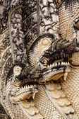 Dragon sculpture in Thailand temple — Stock Photo
