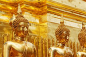 Gold face of Buddha statue — Stock Photo