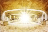 Tunnel Architecture construction — Stock Photo