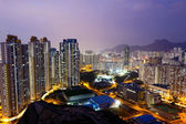 Sunset hongkong city — Foto Stock