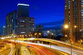 Downtown skyline at night — Stock Photo