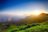 Hong kong sunrise — Stockfoto