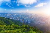 Hong kong sunrise — Stock Photo