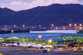 Hongkong airport at tung chung — Stock Photo