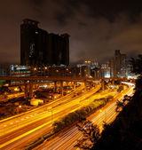 Noche de centro de la ciudad — Foto de Stock