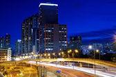 Hong Kong Kowloon city night — Stock Photo