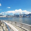 China, Hong Kong waterfront buildings — Stock Photo
